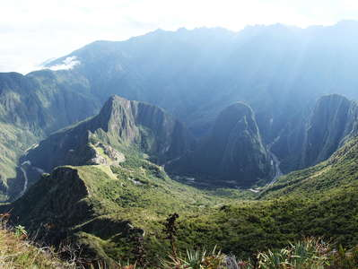 Urubamba Valley with Machu Picchu