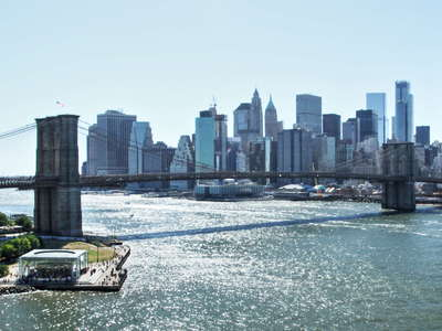 Brooklyn Bridge and Lower Manhattan