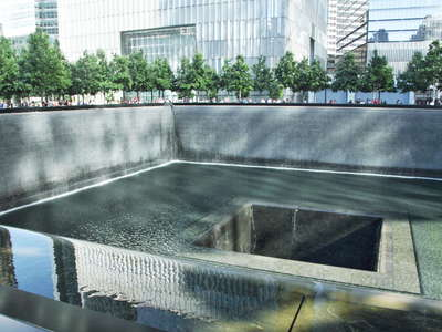 Lower Manhattan  |  North Pond of 9/11 Memorial