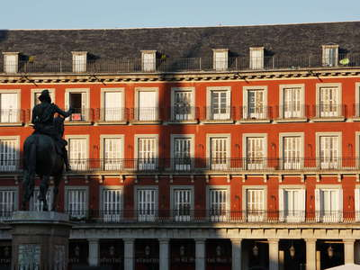 Madrid | Plaza Mayor with Statue of Felipe III