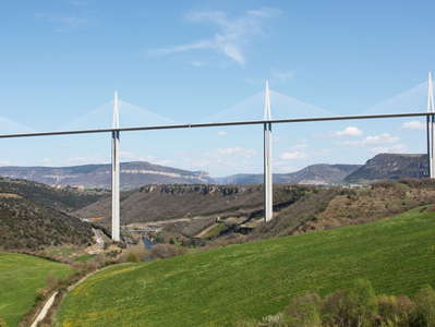 Tarn Valley with Viaduc de Millau
