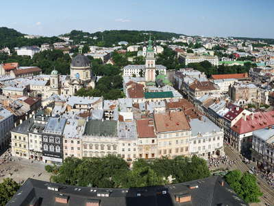 Lviv | Panoramic view of Old Town