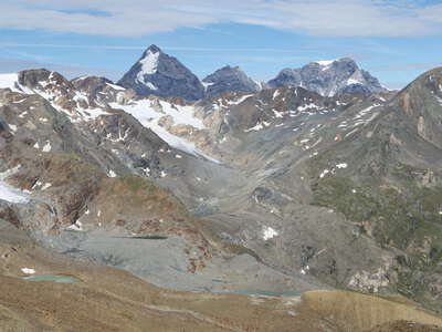 Martell Valley with Ortler Mountains