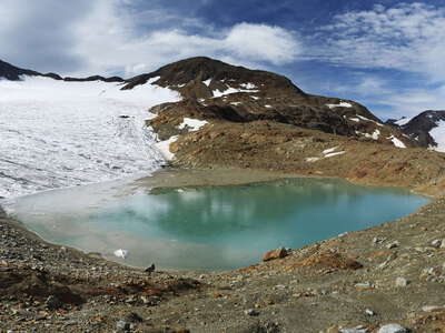 Köllkuppe with Hohenferner and glacial lake