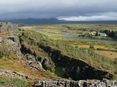 Þingvellir with tectonic faults