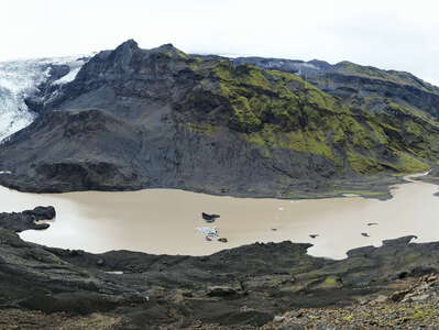 Steinholtsdalur | Panoramic view with landslide