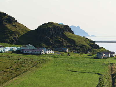 Southeast coast with farm