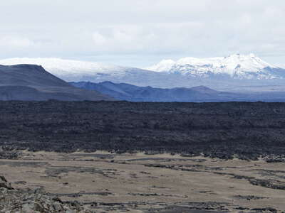 Dreki | Highland with Kollóttadyngja and lava field