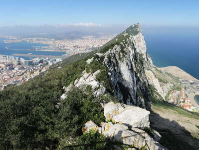 Gibraltar | Panoramic view with Rock of Gibraltar