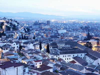 Granada | Historic centre after sunset