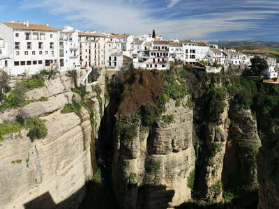 Ronda with sandstone cliff