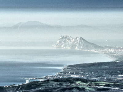 Gibraltar with Strait of Gibraltar