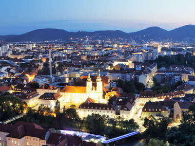 Graz at night